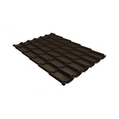 Металлочерепица GL Классик 0,5 Satin RR 32 темно-коричневый