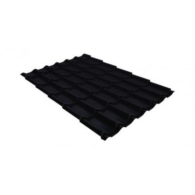 Металлочерепица Гранд Лайн Классик 0,5 Velur20 RAL 9005 черный