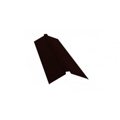 Планка конька плоского 115х30х115 0,5 Velur20  шоколад