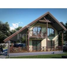 Проект каркасного дома «Кейкино-110»