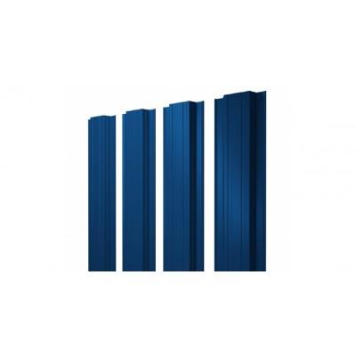 Штакетник Прямоугольный 0,45 PE RAL 5005 сигнальный синий