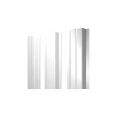 Штакетник П-образный А 0,45 PE RAL 9003 сигнальный белый