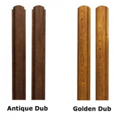 Штакетник П-образный А фигурный 0,45 Print-Double Golden Dub
