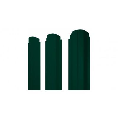 Штакетник П-образный А фигурный 0,45 PE RAL 6005 зеленый мох