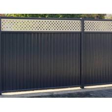 Ворота откатные Премиум 2,0х4,5 RAL 8017