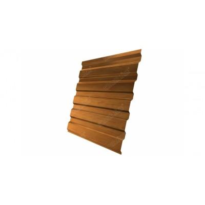 Профнастил С20А 0,45 Print Twincolor Golden Wood