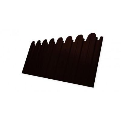 Профнастил С10B фигурный 0,45 PE RR 32 темно-коричневый
