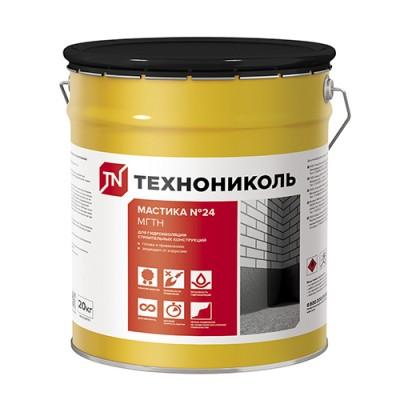 Мастика гидроизоляционная ТЕХНОНИКОЛЬ №24 МГТН ведро 10 кг