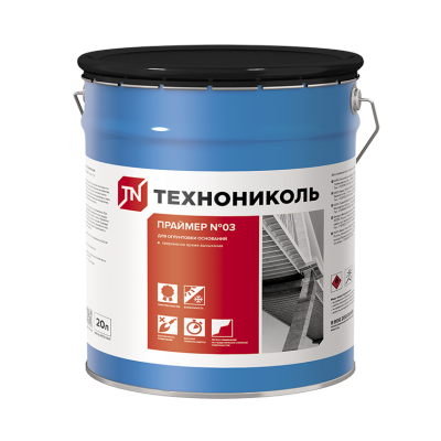 Праймер битумно-полимерный ТЕХНОНИКОЛЬ №03 ведро 20 л