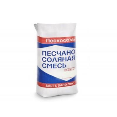 Противогололедная смесь Пескосоль 25 кг (до -8 С)